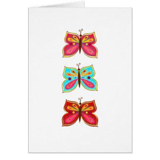 Cartões da borboleta/vazio para dentro