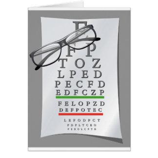 Cartões da carta do optometrista