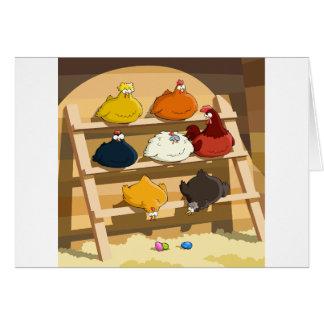 Cartões da casa de galinha