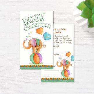 Cartões da competição do livro da arte do elefante