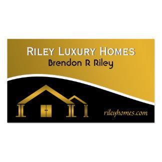 Cartões da construção de casas & de indústria da cartão de visita