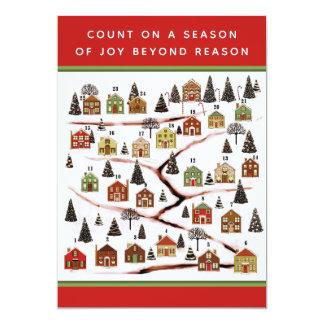 Cartões da contagem regressiva do Natal