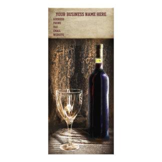 cartões da cremalheira da degustação de vinhos panfleto personalizado