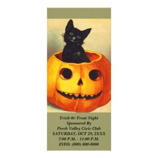 Cartões da cremalheira da Jack-o-Lanterna do CAT 10.16 X 22.86cm Panfleto