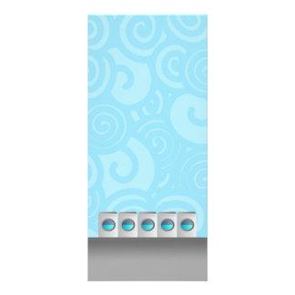 Cartões da cremalheira da lavagem automática 10.16 x 22.86cm panfleto