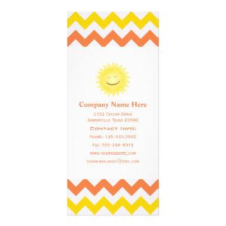 Cartões da cremalheira de Sun do smiley do amarelo 10.16 X 22.86cm Panfleto