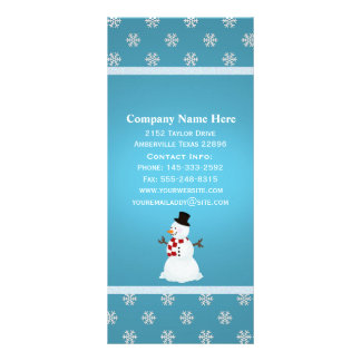 Cartões da cremalheira do boneco de neve do invern 10.16 x 22.86cm panfleto