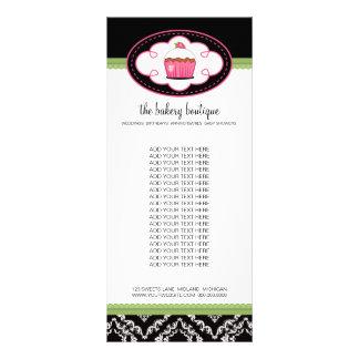 Cartões da cremalheira do boutique da padaria 10.16 x 22.86cm panfleto