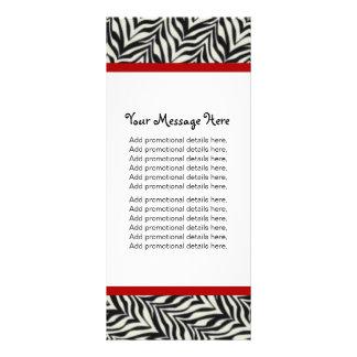 Cartões da cremalheira do coração da zebra modelos de panfletos informativos