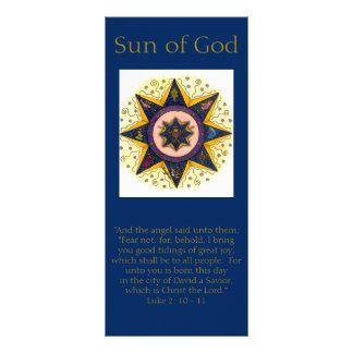 Cartões da cremalheira do feriado - Sun do deus 10.16 X 22.86cm Panfleto