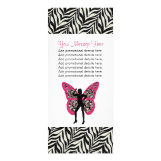 Cartões da cremalheira do impressão da menina e da 10.16 x 22.86cm panfleto