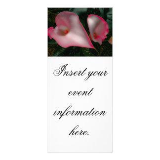 Cartões da cremalheira do lírio de Calla Panfletos Informativos Personalizados