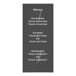 Cartões da cremalheira do menu do monograma do 10.16 x 22.86cm panfleto