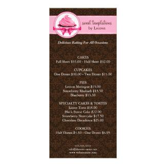 Cartões da cremalheira do negócio da padaria panfleto informativo personalizado