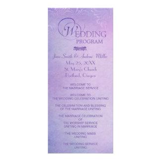 Cartões da cremalheira do programa do casamento -  10.16 x 22.86cm panfleto