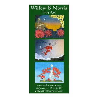 Cartões da cremalheira do salgueiro