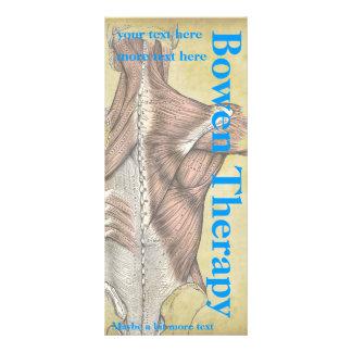 Cartões da cremalheira do terapeuta da massagem 10.16 x 22.86cm panfleto