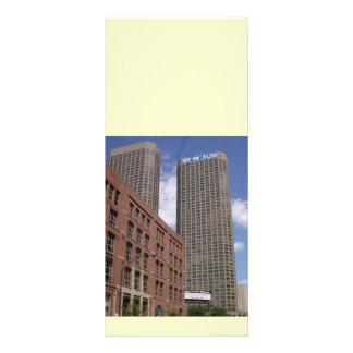 Cartões da cremalheira para executivos 10.16 x 22.86cm panfleto