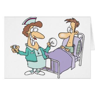 Cartões da enfermeira e do paciente