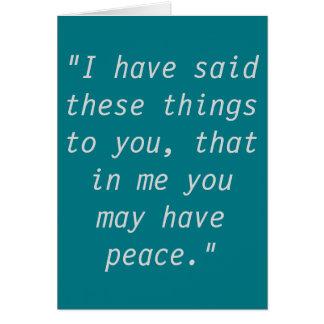 """Cartões da escritura da """"paz"""""""