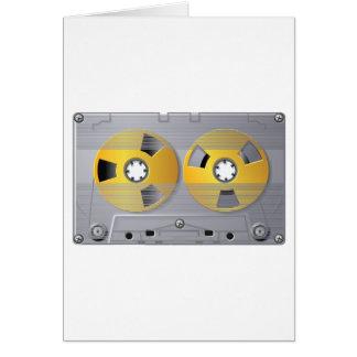 Cartões da fita da cassete áudio