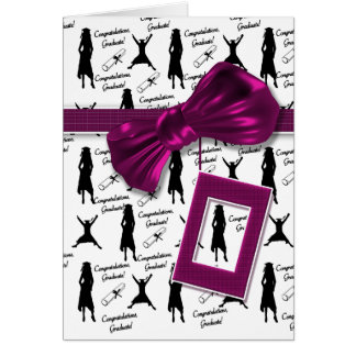 Cartões da graduação para as mulheres -