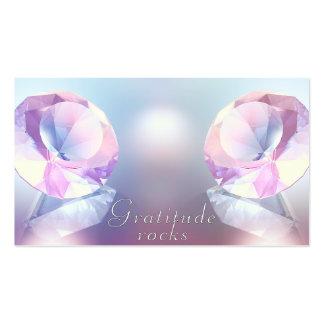 Cartões da gratitude cartão de visita