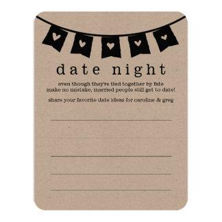 Cartões da ideia da noite & das férias da data do convite 10.79 x 13.97cm