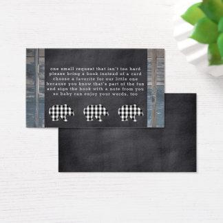 Cartões da inserção do pedido do livro do urso do
