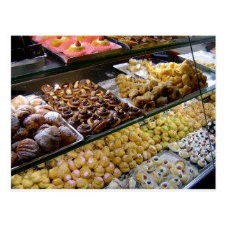Cartões da loja de pastelaria