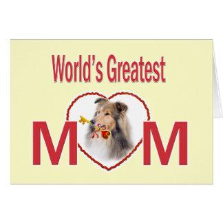 Cartões da mamã do mundo do Collie os grandes