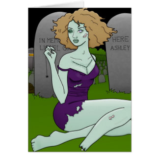 cartões da menina do zombi