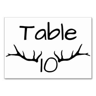 Cartões da mesa da mesa 10 do Antler