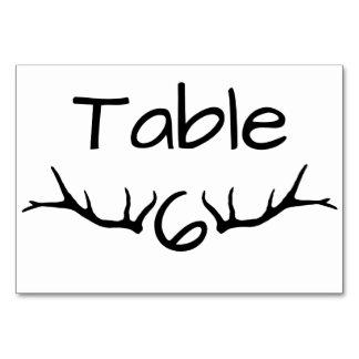 Cartões da mesa da mesa 6 do Antler
