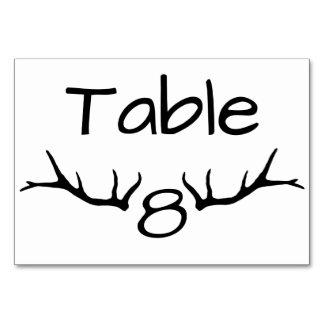 Cartões da mesa da mesa 8 do Antler