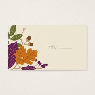 Cartões da mesa do convidado do casamento outono