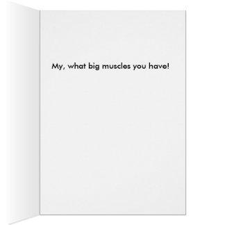 Cartões da necessidade dos homens do músculo