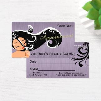 Cartões da nomeação da senhora cabeleireiro
