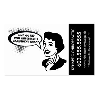 Cartões da nomeação do anúncio da quiroterapia do cartão de visita