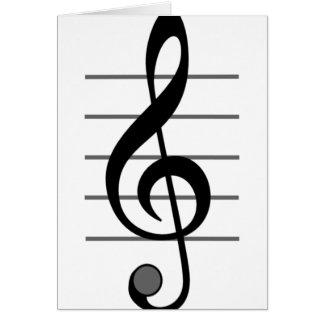 Cartões da nota musical de Clef de triplo