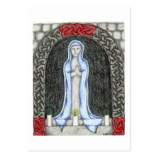 Cartões da oração de Mary da saraiva Cartão De Visita Grande