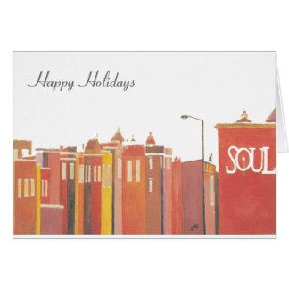 Cartões da parte da assinatura - solstício de inve