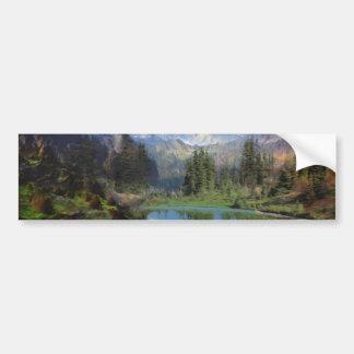 Cartões da pintura a óleo da montanha rochosa adesivo para carro