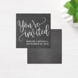 Cartões da placa conhecida do convite do casamento