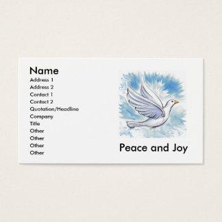Cartões da pomba da paz e da alegria