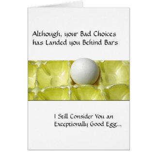 Cartões da prisão - bom ovo