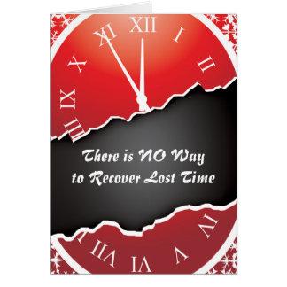 Cartões da prisão - recuperando o tempo