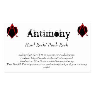 Cartões da promoção do antimónio cartão de visita