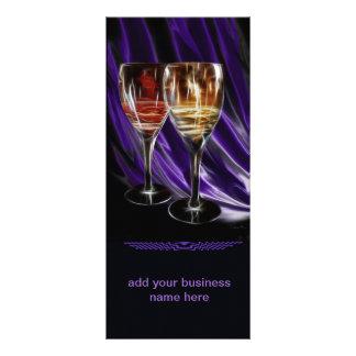 cartões da propaganda da degustação de vinhos modelo de panfleto informativo