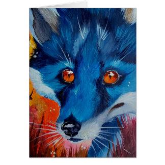 Cartões da raposa preta